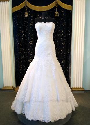 """Шикарная свадебное платье """"рыбка"""""""