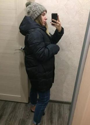 Куртка парка пуховик тренд 2019 оверсайз бойфренд пудра зефирка