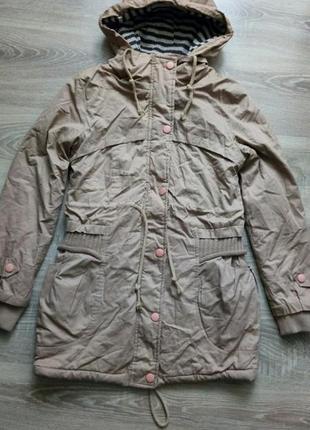 Оригинальная теплая куртка парка
