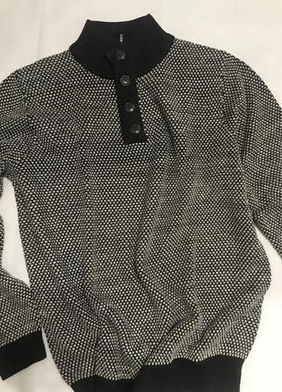 Шикарный шерстяной мужской свитер шоколадного цвета