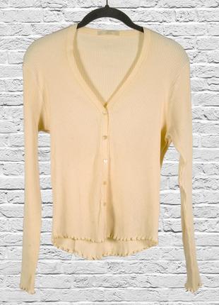 Желтый свитер рубчик, осенний свитер приталенный, однотонный свитер светлый