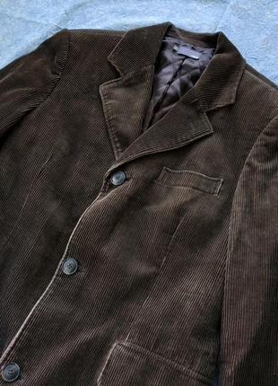 Вельветовое мужское пальто h&m