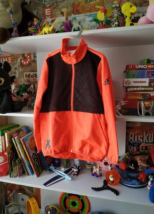 Куртка ветровка олимпийка adidas climalite на 7-8 лет, 122-128 см