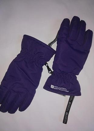 Дутые лыжные перчатки,р-р s,mountain warehouse,сток