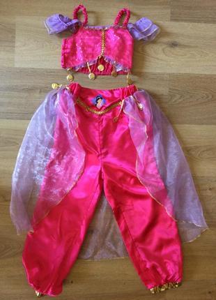 Карнавальное платье принцессы жасмин оригинал 5-7 лет дисней