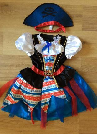 Карнавальное платье пиратка оригинал 7-8 лет дисней