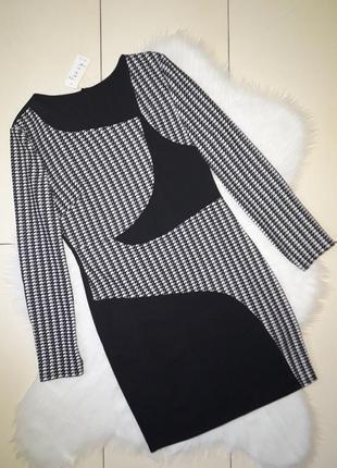 Платье черное с гусиной лапкой fenzy италия
