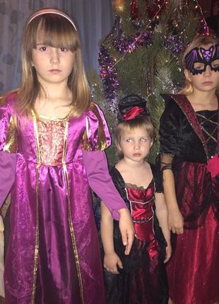 Карнавальное платье «девочка вамп»