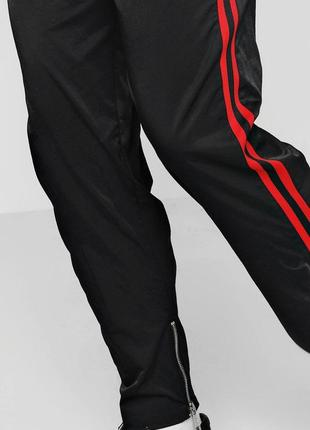 Штаны спортивные черные брюки с лампасами3 фото