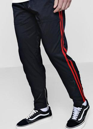 Штаны спортивные черные брюки с лампасами
