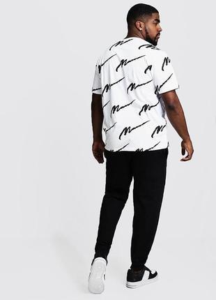Черные трикотажные спортивные брюки штаны на манжетах джоггеры