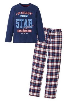 Хлопковая фланелевая пижама lupilu на рост 98-104 см