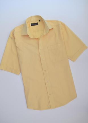 Мужская желтая рубашка green wood essentials короткий рукав