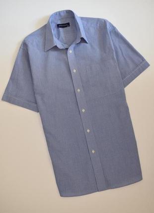 Мужская рубашка в мелкую клетку debenhams короткий рукав