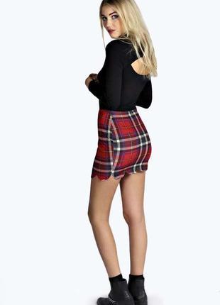 Мини юбка в клеточку шотландская клетка
