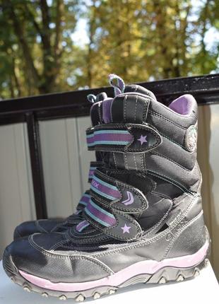 Мембранные ботинки сапоги на липучках