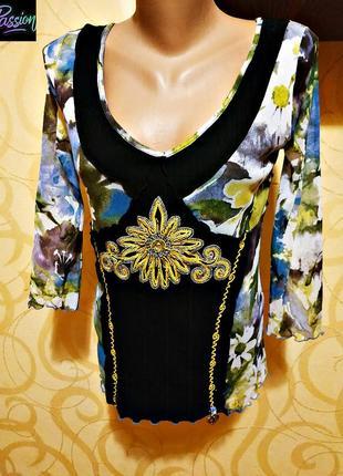 Дизайнерская блуза от shirt passion, оригинал, италия р.xl