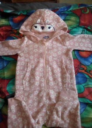 Флисовая пижама поддева.кингуруми