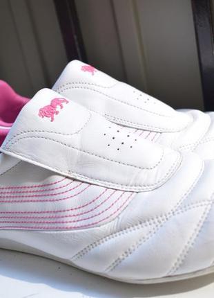 Кожаные спортивные туфли мокасины лоферы