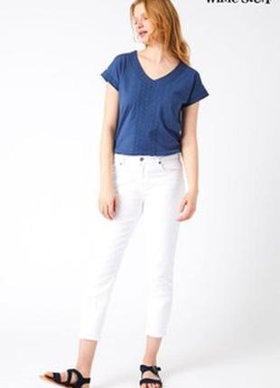Женские базовые белые  джинсы white stuff