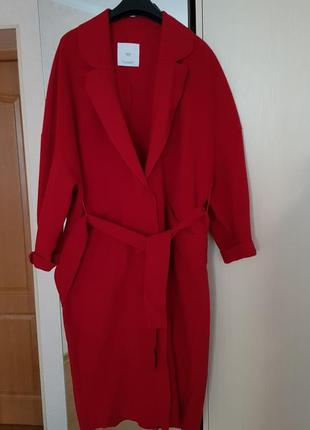 Шикарное пальто на запах из шерсти ланы 80%)))👍👍👍😍