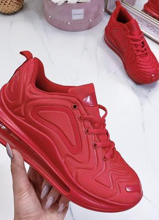Новые шикарные женские красные кроссовки