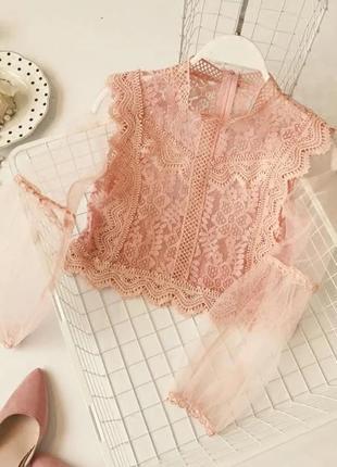 Блузка блуза укороченная