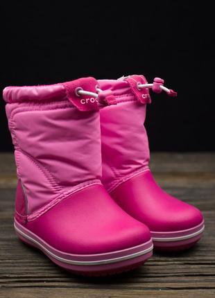 Зимние сапоги снегоходи crocs crocband lodgepoint boot kids р-24