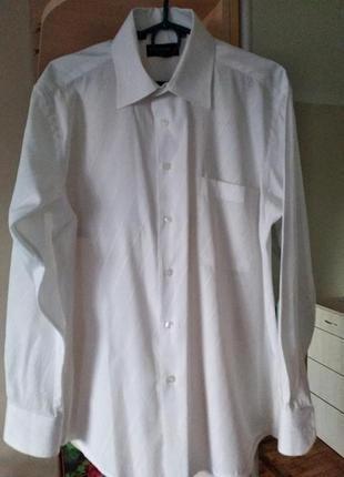 Белая рубашка для мальчика,юноши,р.46.