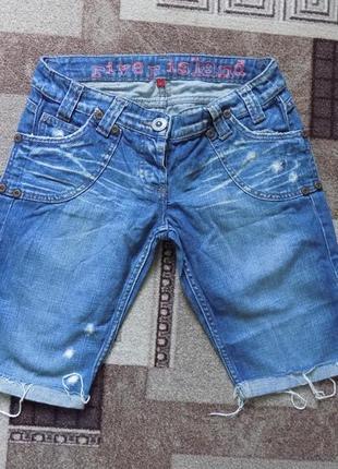 Стильные джинсовые шорты river island, модные рванки1 фото