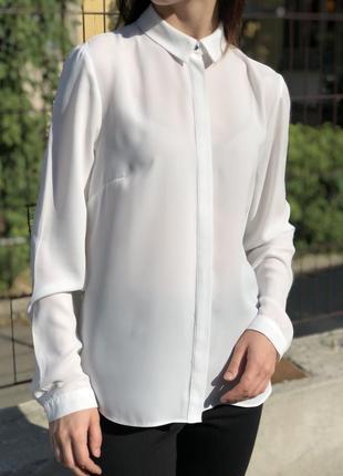 Лёгкая шифоновая блуза оверсайз