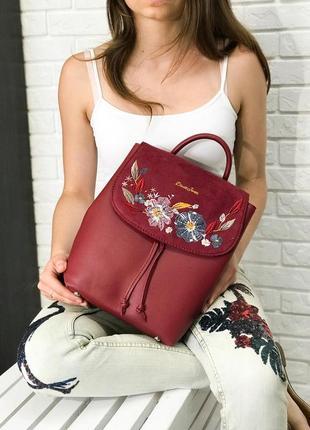 Рюкзачок 4 цвета красный рюкзак david jones замш вышивка бордовый
