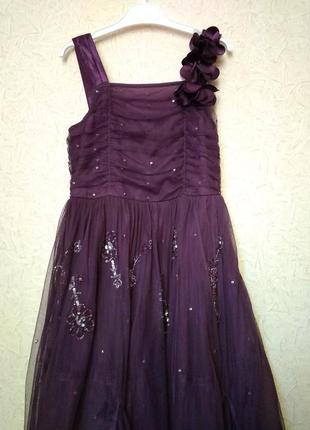Нарядное платье next signature для девочки 8-9 лет