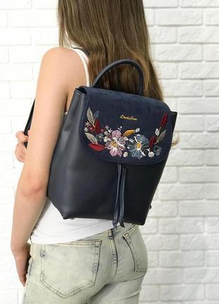 Рюкзачок 4 цвета рюкзак david jones замш вышивка черный