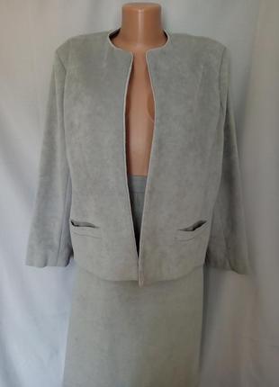Стильный замшевый костюм   №1np