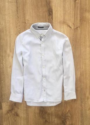 Стильная рубашка 7-10 лет zara boys/slim fit