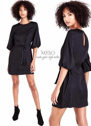 Маленькое чёрное платье , рукава фонарики