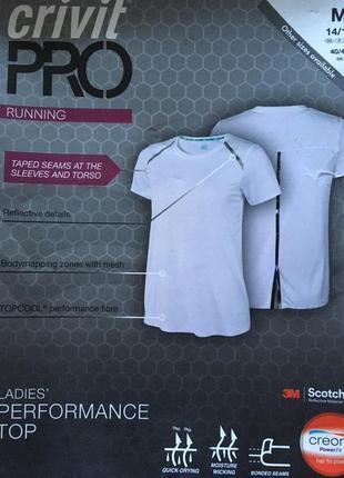 Спортивная футболка crivit pro размер м40-42 евро наш 46-48