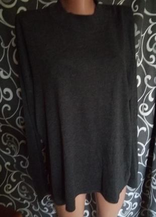 Базовый свитер с разрезами по бокам50% вискоза оверсайз