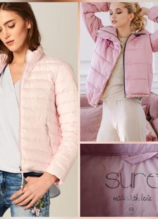 Фирменная стильная качественная натуральная ультра лёгкая куртка пуховик.