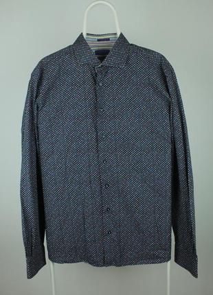 Шикарная рубашка от итальянского кутюрье giordano modern fit limited