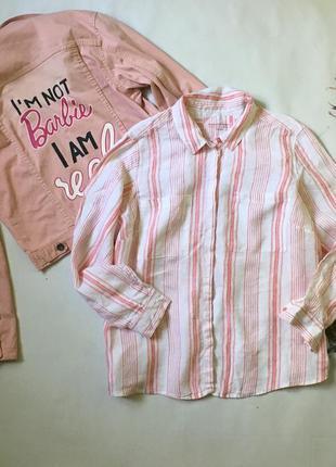 Льняна сорочка в полоску