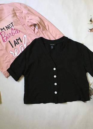 Шифонова блуза з ґудзиками