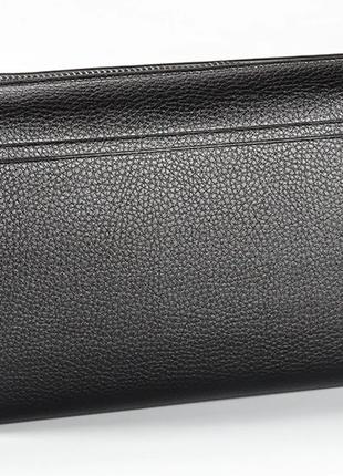 Черный мужской кожаный клатч портмоне бумажник baellerry