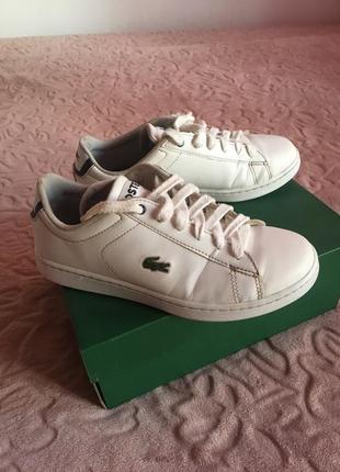 Кожаные кроссовки, оригинал lacoste