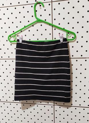 Мини юбка полосатая облегающая в обтяжку короткая міні спідниця в полоску new look рр xs-s