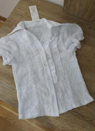 Блузка для дівчинки 128 см , маломірить підійде на 122 см