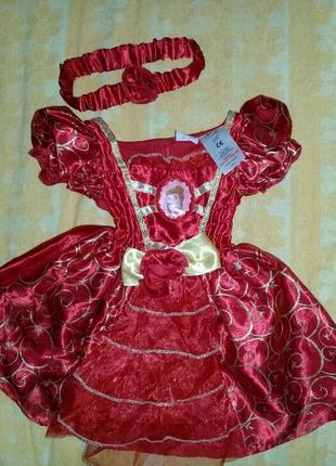 Карнавальное платье принцессы на 3-6мес.