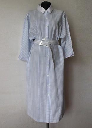 Винтажное платье в полоску германия 100% хлопок