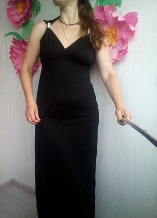 Длинный сарафан платье в греческом стиле черное